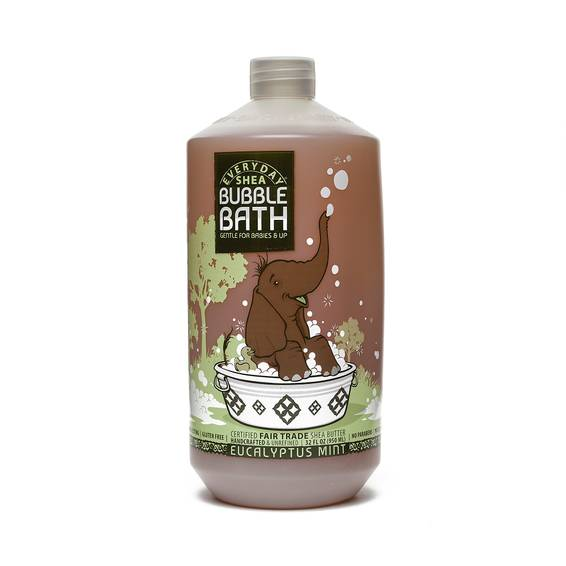 Fair Trade Shea Butter Baby Bubble Bath Eucalyptus Mint