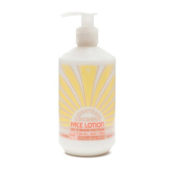 Fair Trade Coconut Daily Face Lotion SPF 15