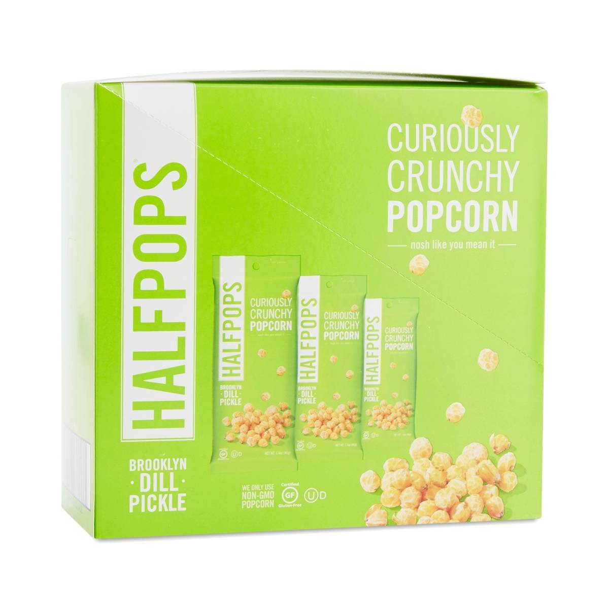 halfpops brooklyn dill pickle crunchy popcorn thrive market