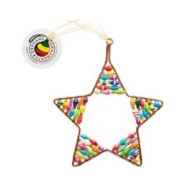 Colorful Beaded Star Ornament