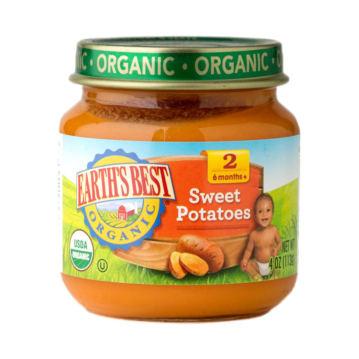 Sweet Potato Baby Food Stage 2 by Earth's Best - Thrive Market