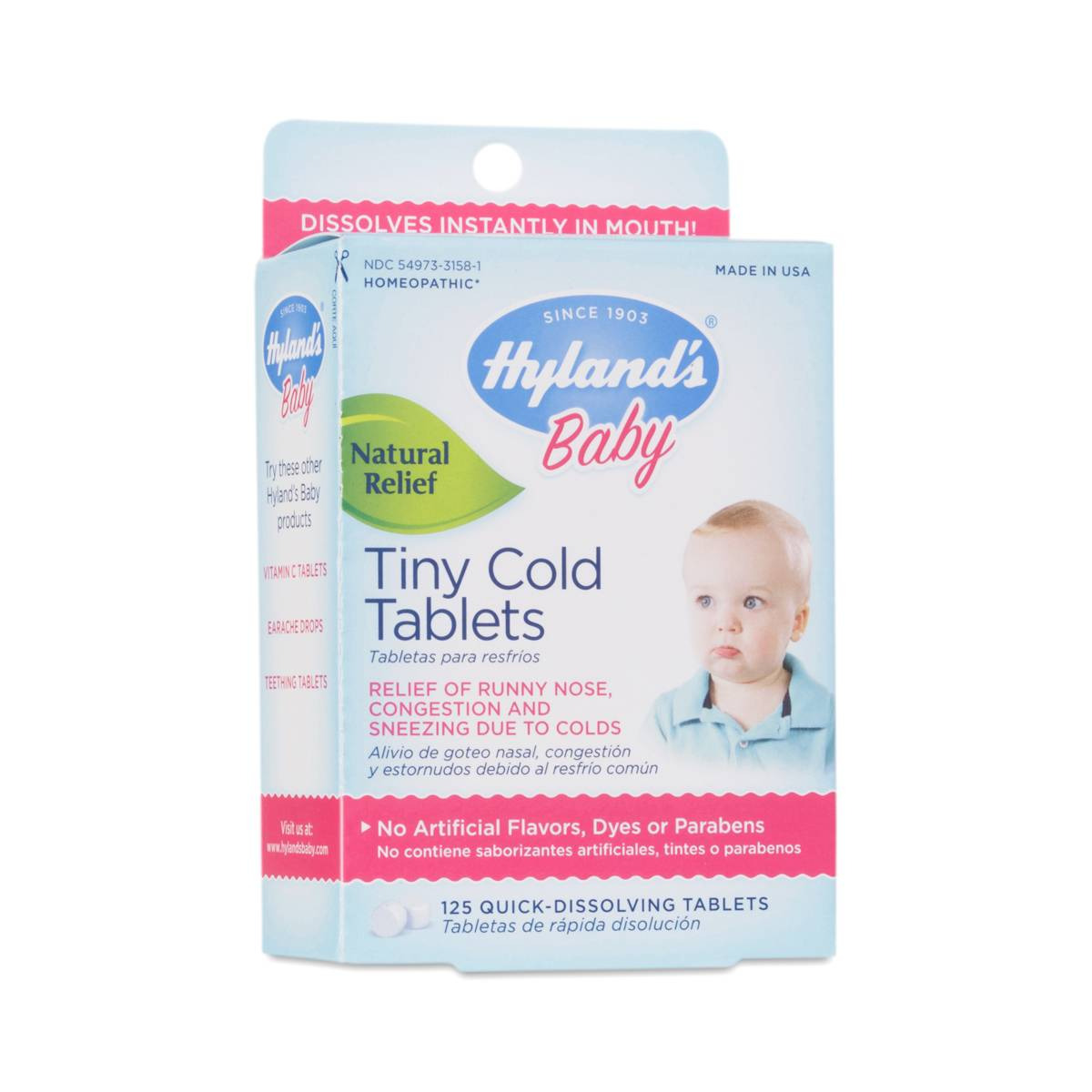 Baby Tiny Cold Tablets By Hylands Thrive Market