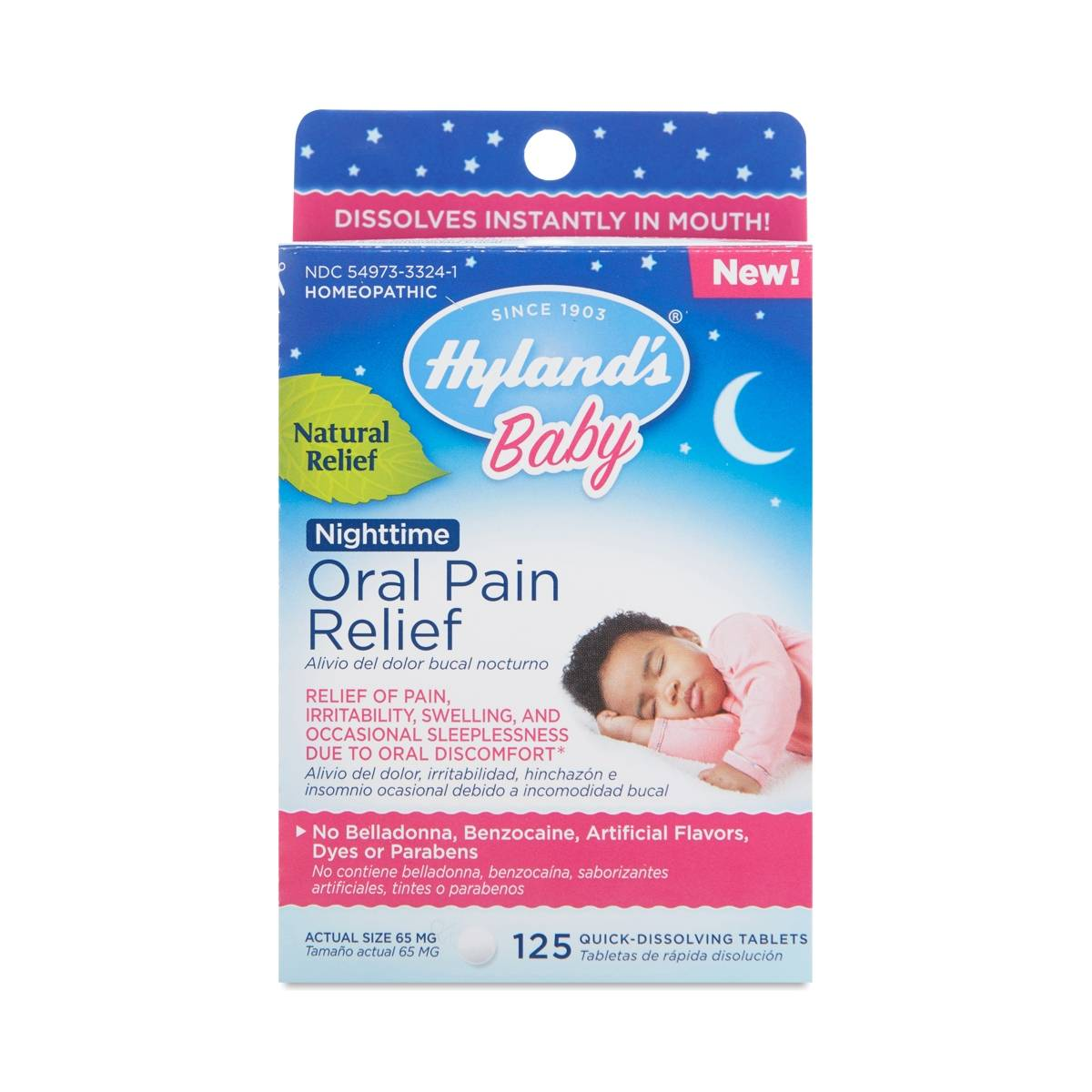 Baby Nighttime Oral Pain Relief Tablets by Hylands - Thrive Market