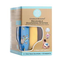 Reusable Diaper System, Monkey Doo, One Size
