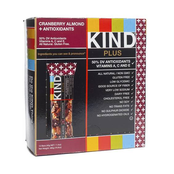 Cranberry & Almond Bars + Antioxidants