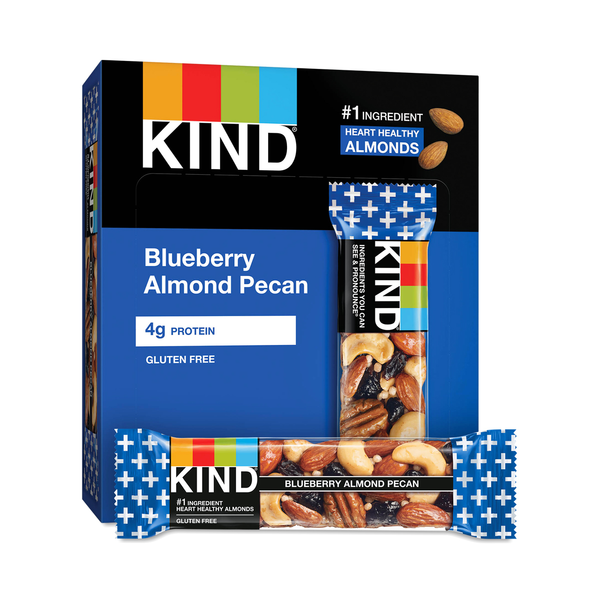 KIND Blueberry & Pecan Bars + Fiber Twelve 1.4 oz bars