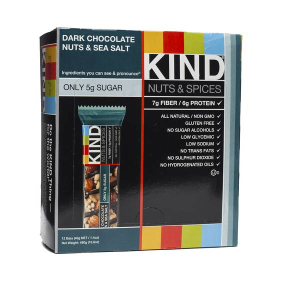Dark Chocolate Nuts & Sea Salt Bars