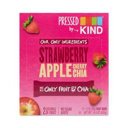Strawberry Apple Chia Pressed Bars