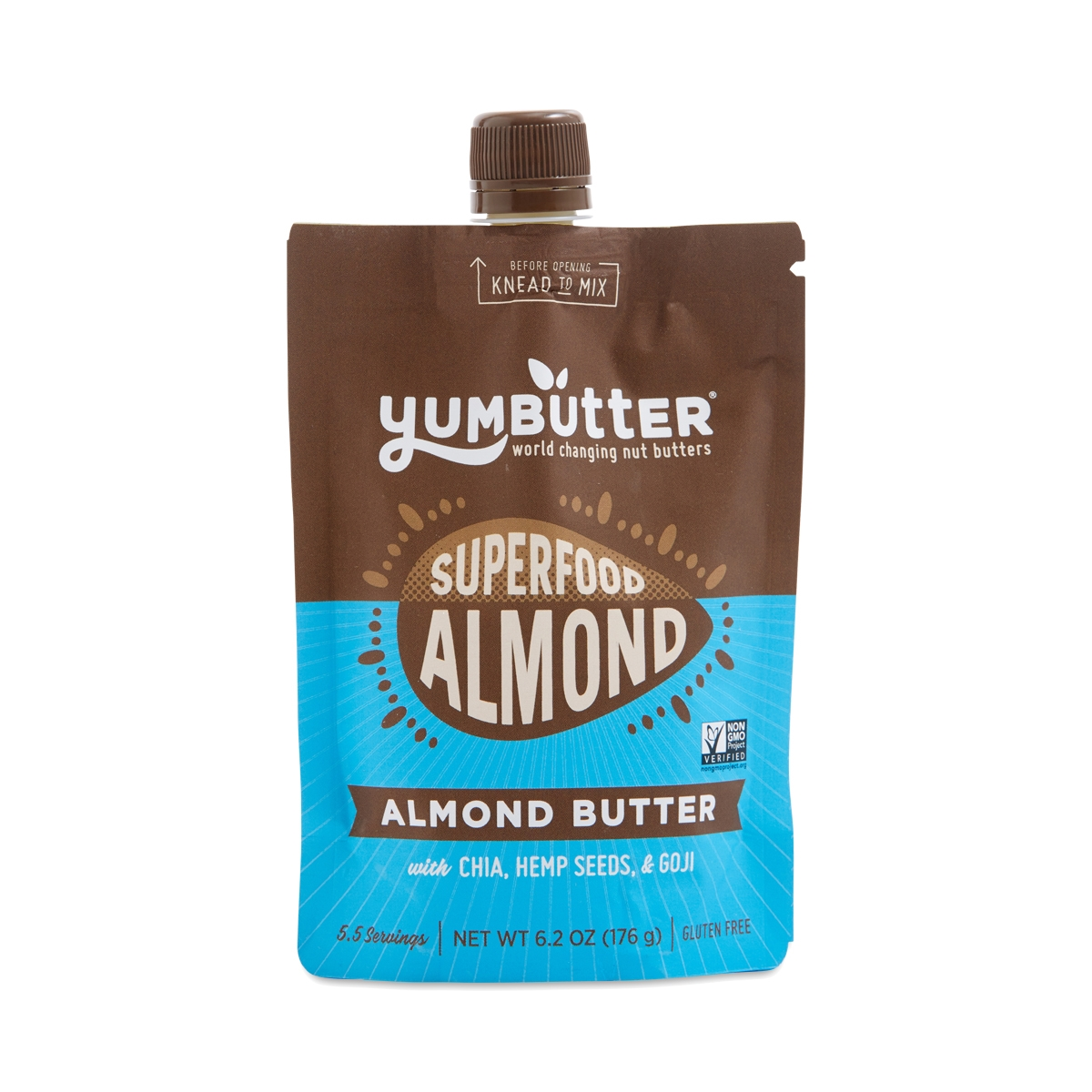 Yumbutter Superfood Almond Butter 6.2 oz pouch