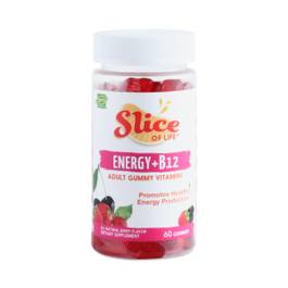 Energy + B-12 Gummy Vitamins - Cran-Raspberry and Black Cherry