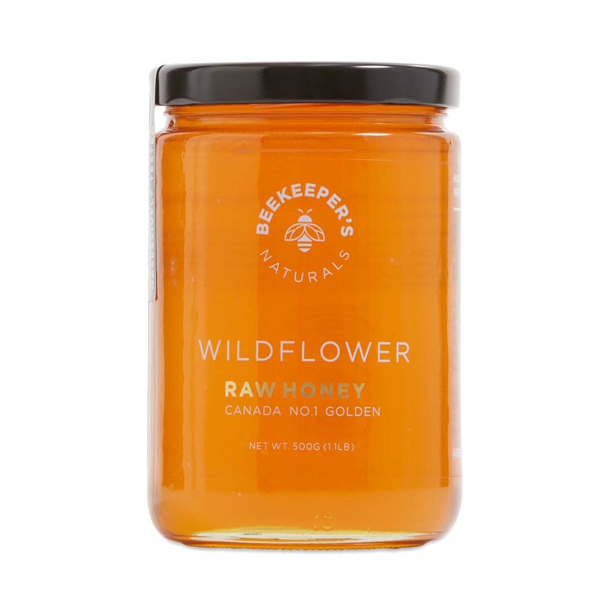 Beekeeper's Naturals Wildflower Raw Honey 500g jar