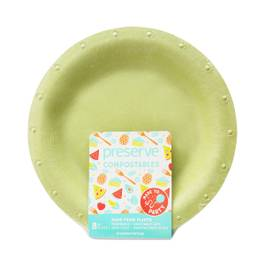 Large Green Compostable Plates