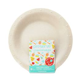 Large Natural Compostable Plates
