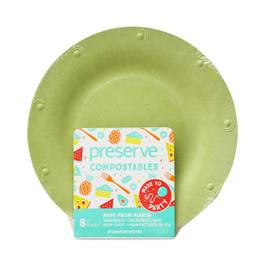 Small Green Compostable Plates