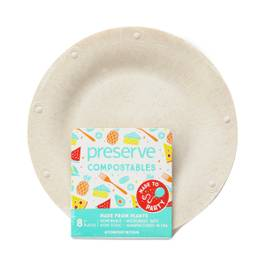 Small Natural Compostable Plates