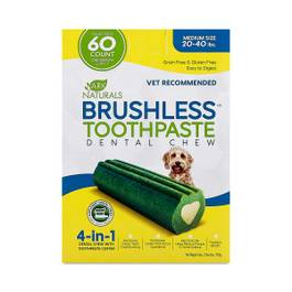 Brushless Toothpaste Dental Chew, Medium 20-40 lbs