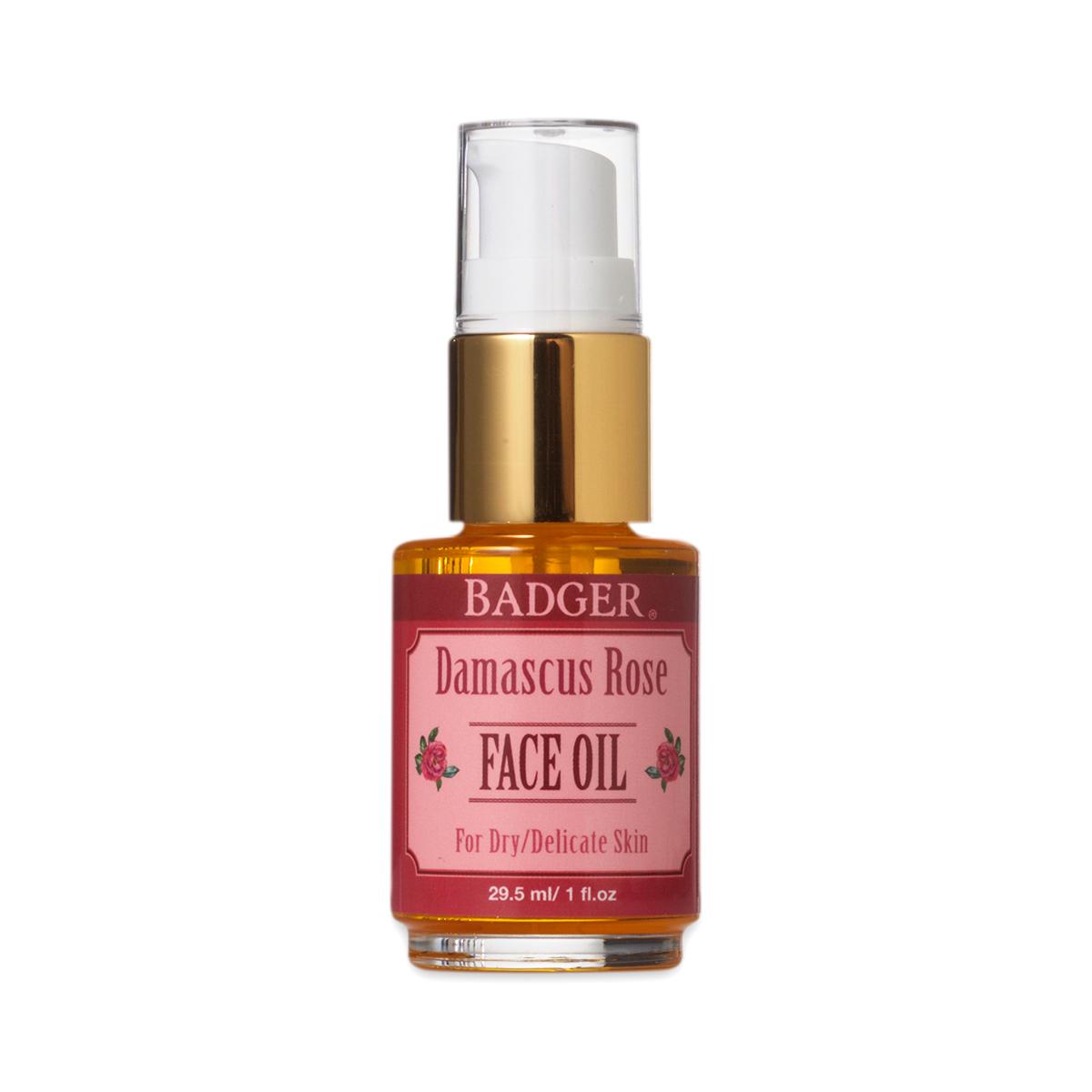 Badger Damascus Rose Face Oil 1 fl. oz bottle