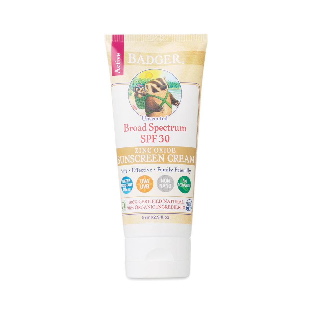 Badger Organic Zinc Oxide Sunscreen 2.9 fl. oz tube