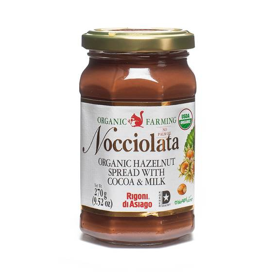 Nocciolata Organic Hazelnut Spread with Cocoa and Milk