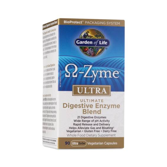 Omega zyme ultra digestive enzyme blend thrive market - Garden of life digestive enzymes ...