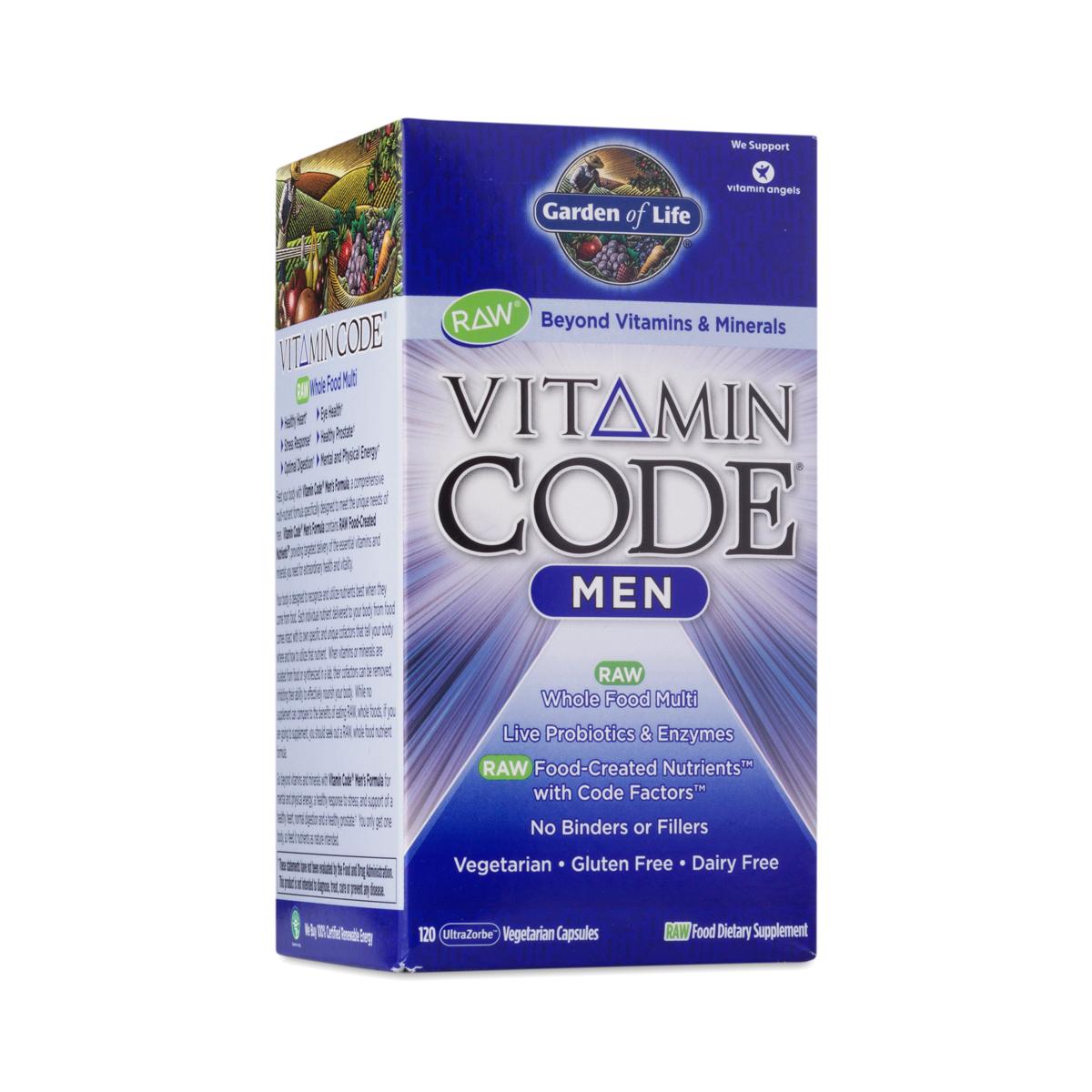 Vitamin Code Men 39 S Multivitamin By Garden Of Life Thrive