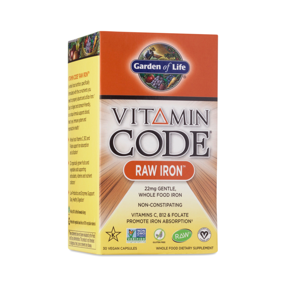 Vitamin Code Raw Iron Supplement By Garden Of Life