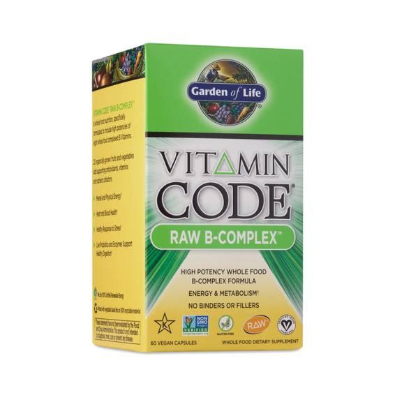 Vitamin Code Raw B Complex Supplement By Garden Of Life Thrive Market