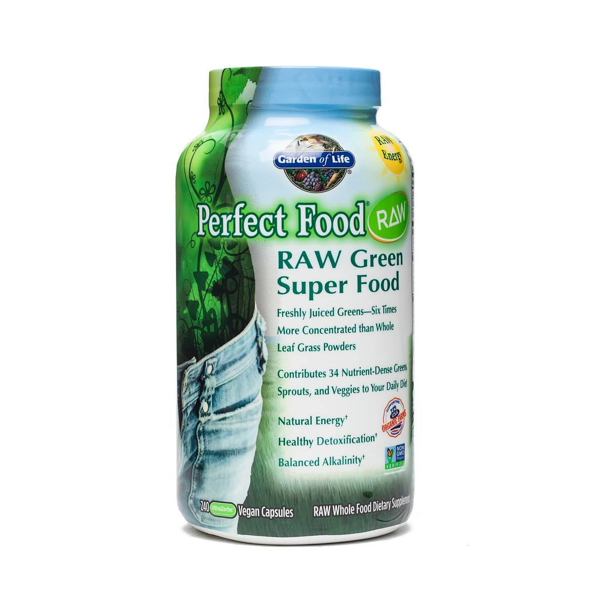 perfect food raw organic green superfood capsules thrive