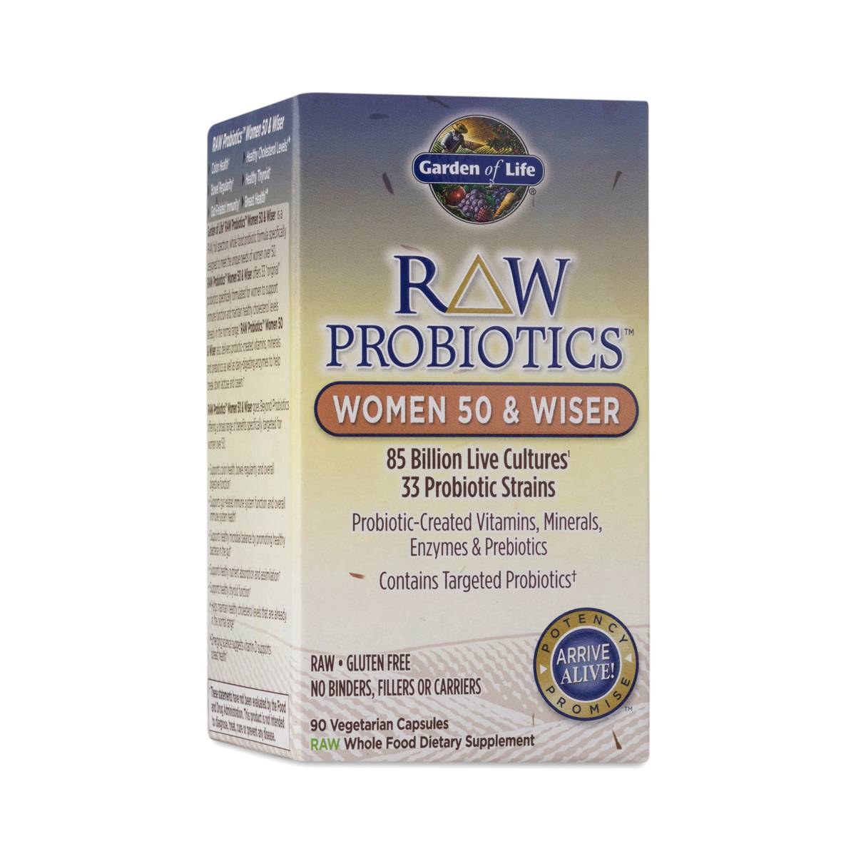 Raw Probiotics For Women 50 Wiser By Garden Of Life Thrive Market
