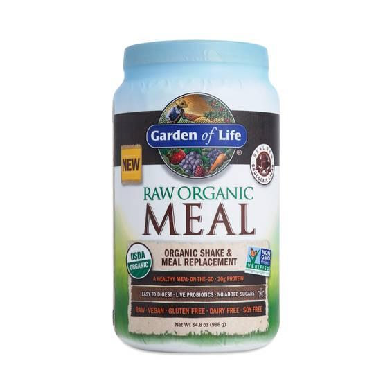 Chocolate raw organic meal replacement shake thrive market - Garden of life raw organic meal chocolate ...