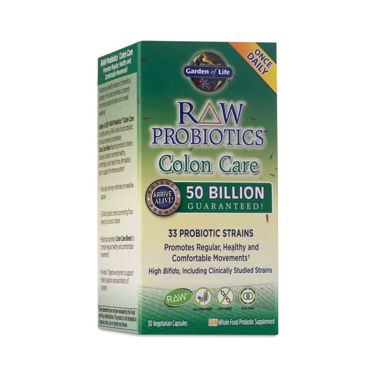 Raw probiotics colon care by garden of life thrive market for Garden of life raw probiotics kids