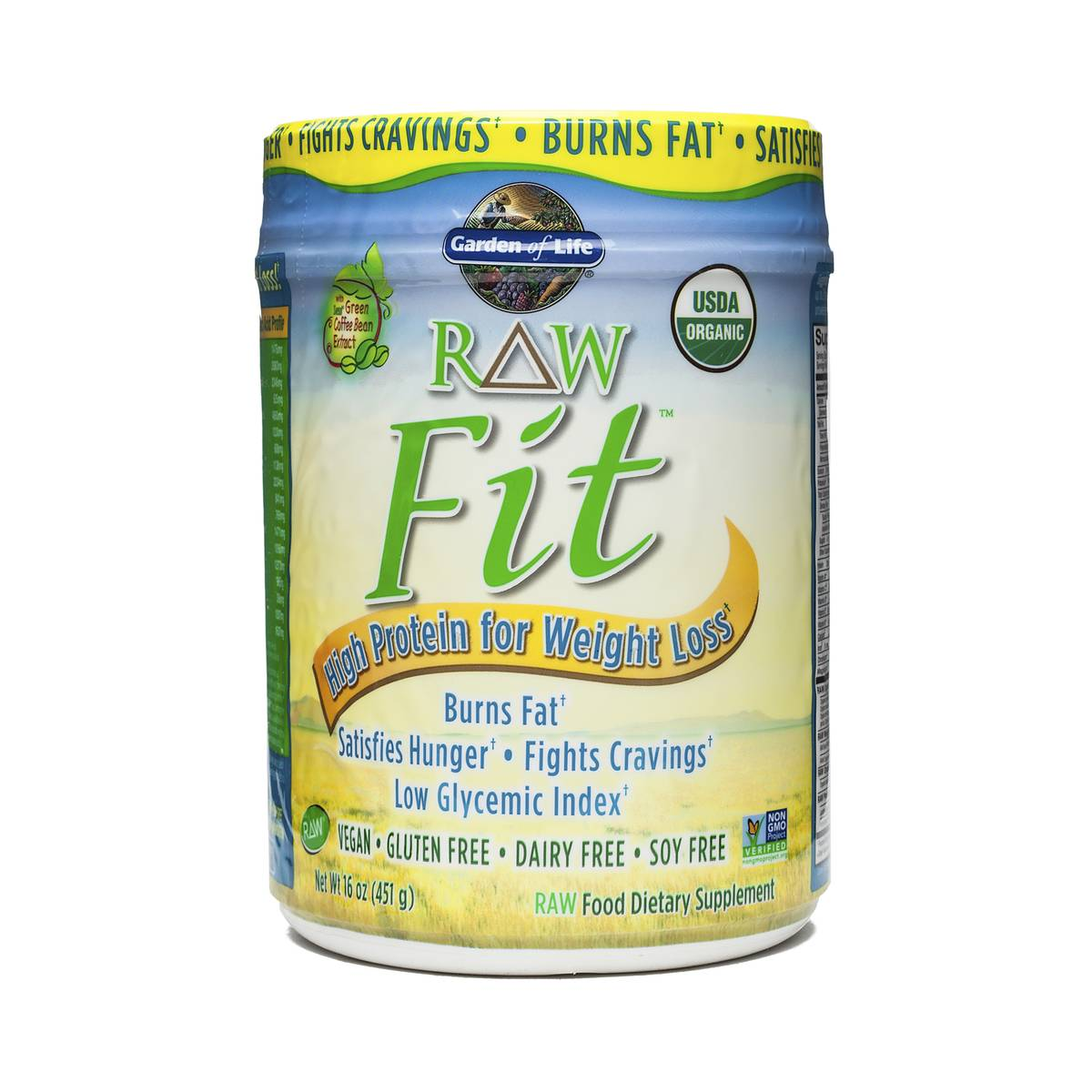451 g RAW Fit Protein Powder by Garden of Life Thrive Market