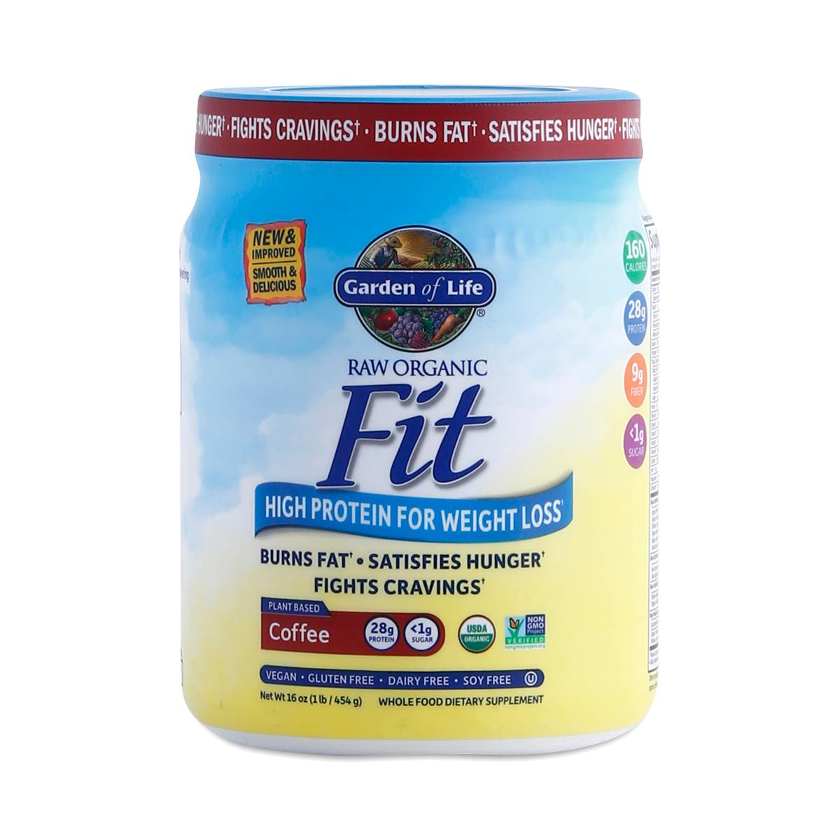 Coffee Raw Fit Protein Powder By Garden Of Life Thrive Market