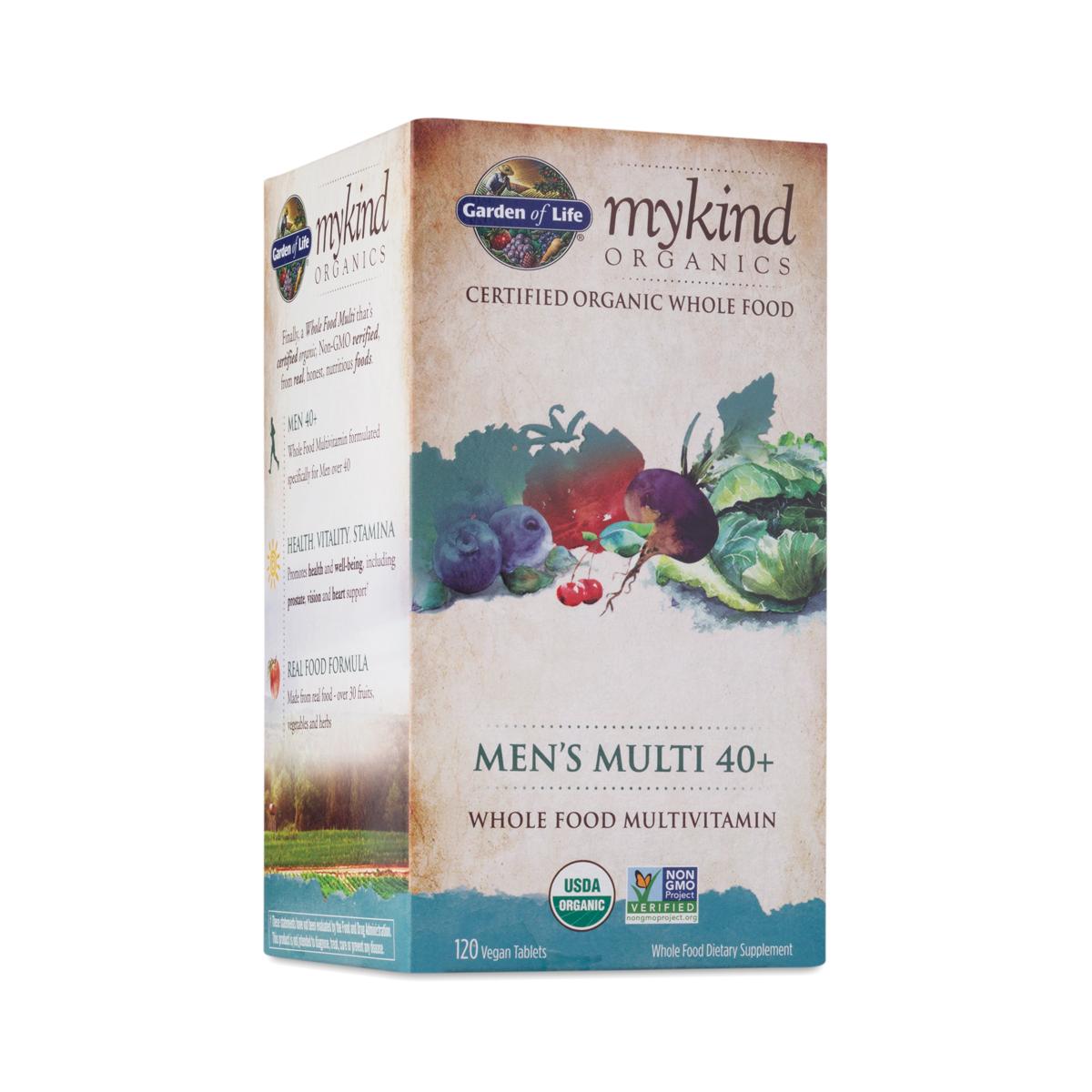 Mykind organics men s multivitamin 40 thrive market - Garden of life multivitamin for men ...