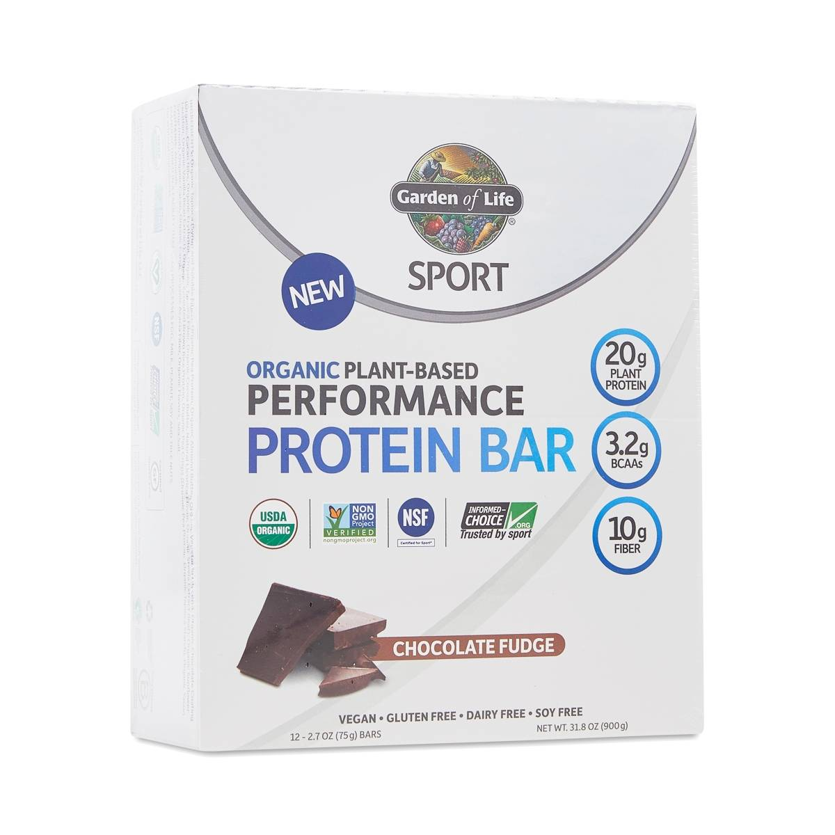 Garden Of Life Sport Bars Chocolate Fudge Thrive Market