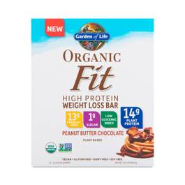 Organic Fit Protein Bars, Peanut Butter Chocolate