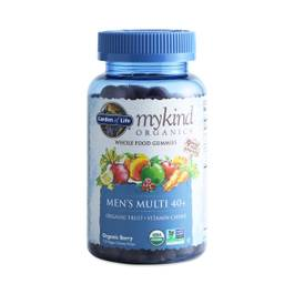 Mykind Organics Men's 40+ Gummy Multivitamin, Berry
