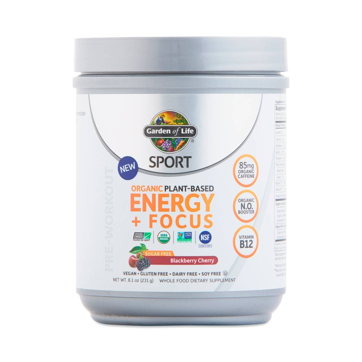Garden of life sport organic plant based energy focus sugar free blackberry thrive market for Garden of life energy and focus