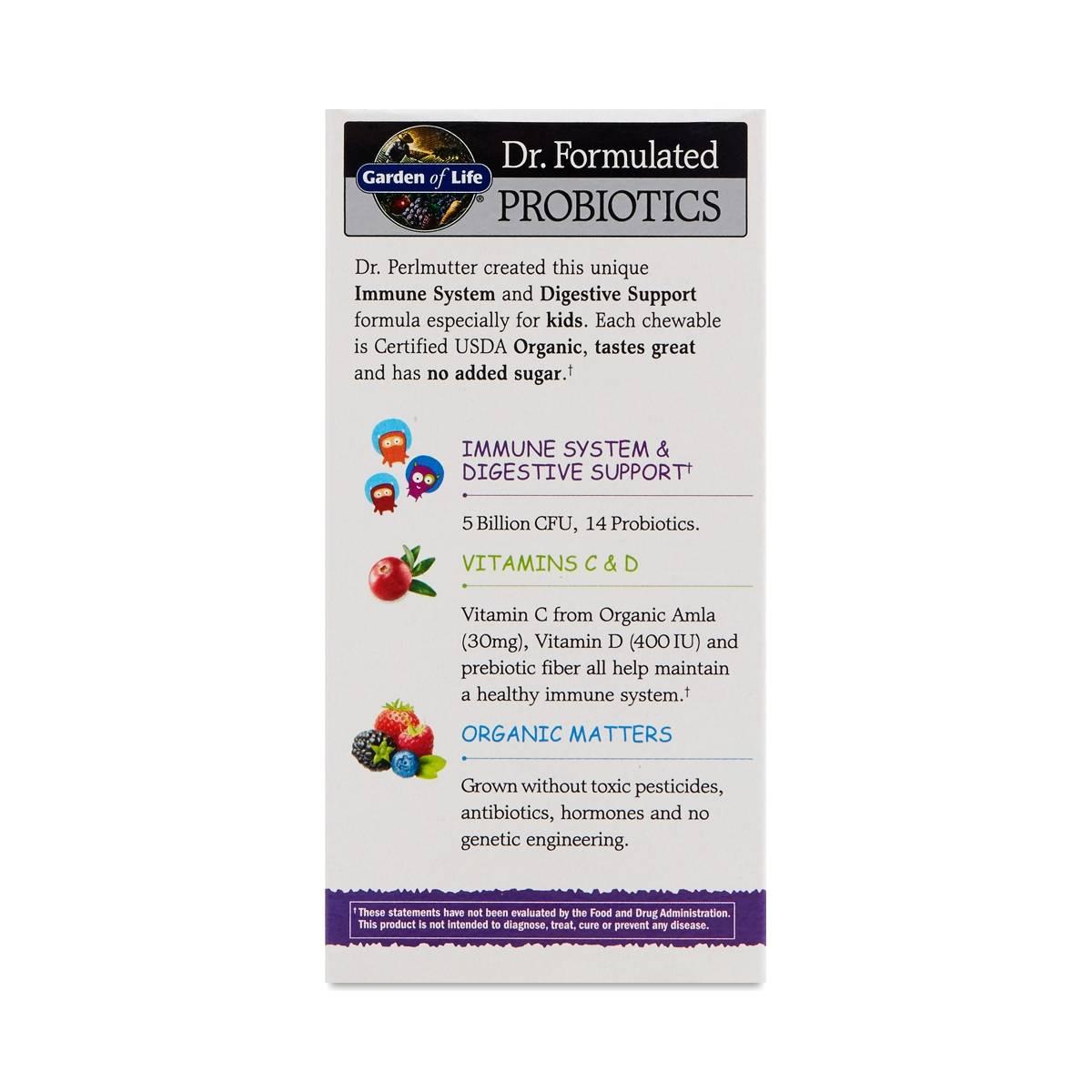 Berry Cherry Organic Kids Probiotics By Garden Of Life
