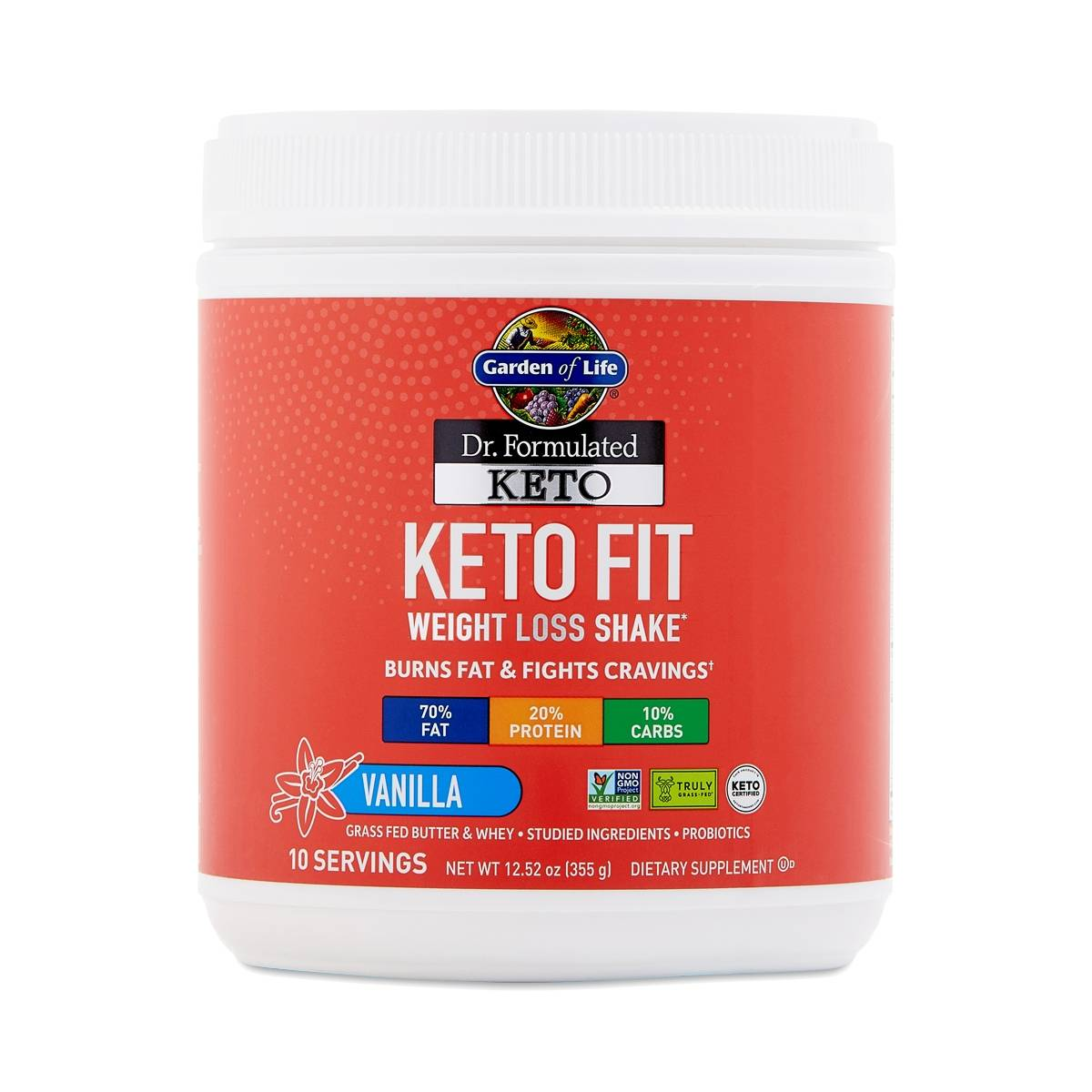 Garden of Life Dr. Formulated Keto Fit, Vanilla - Thrive ...
