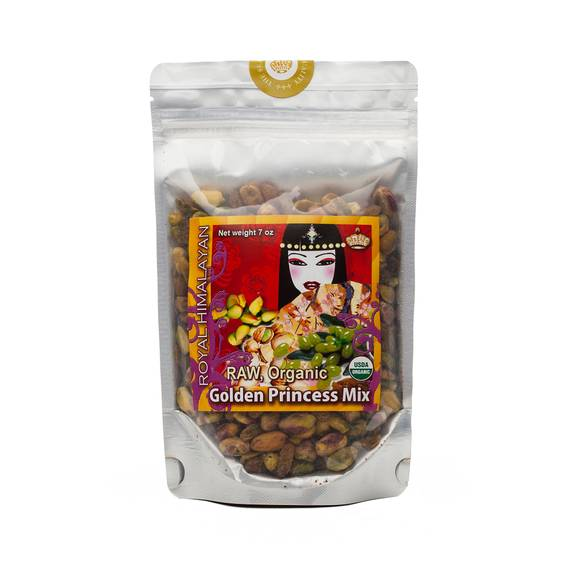 Organic Raw Pistachios and Raisins Golden Princess Mix
