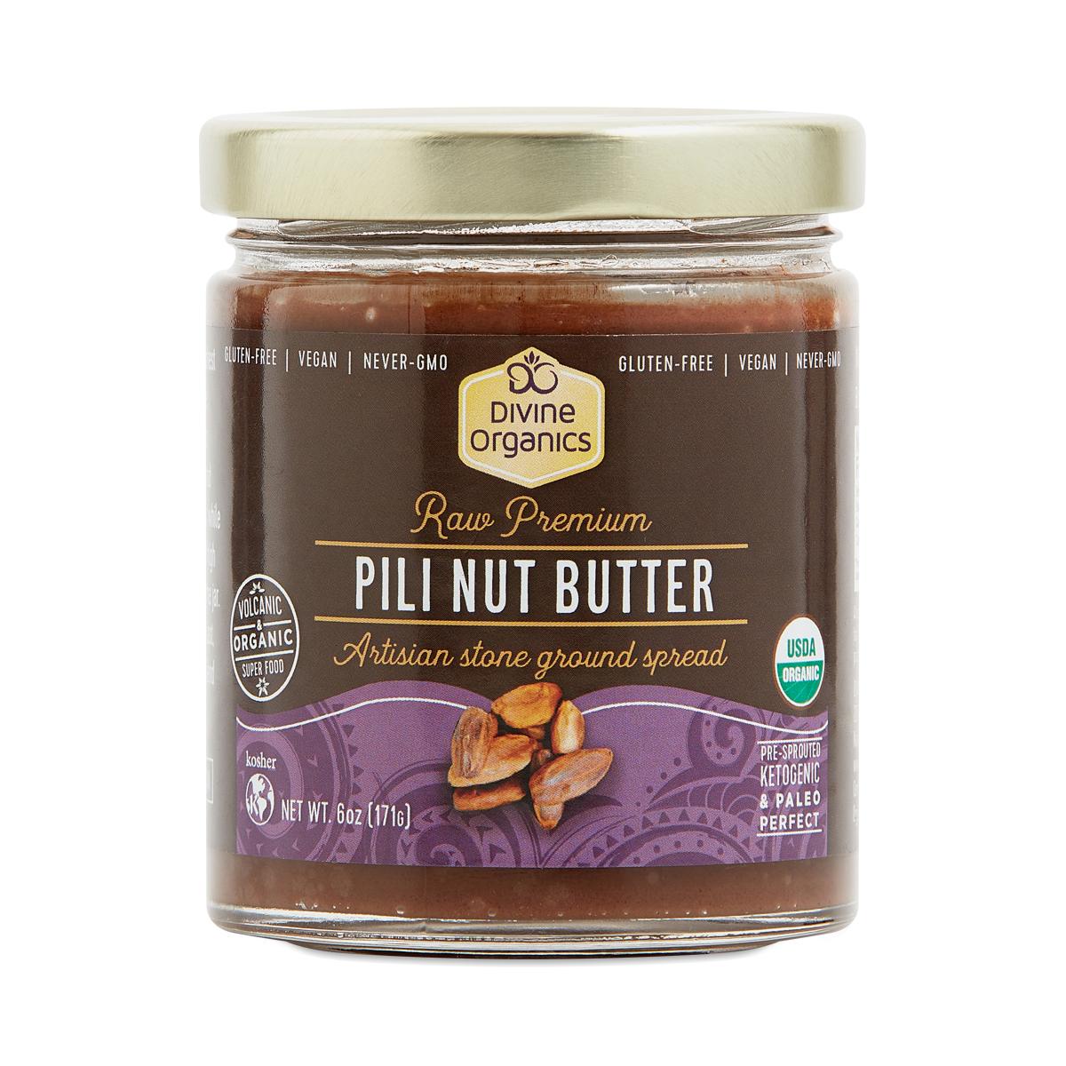 Divine Organics Organic Pili Nut Butter 6 oz jar