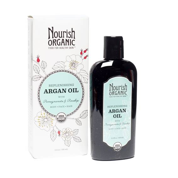Replenishing Organic Argan Oil with Pomegranate and Rosehip