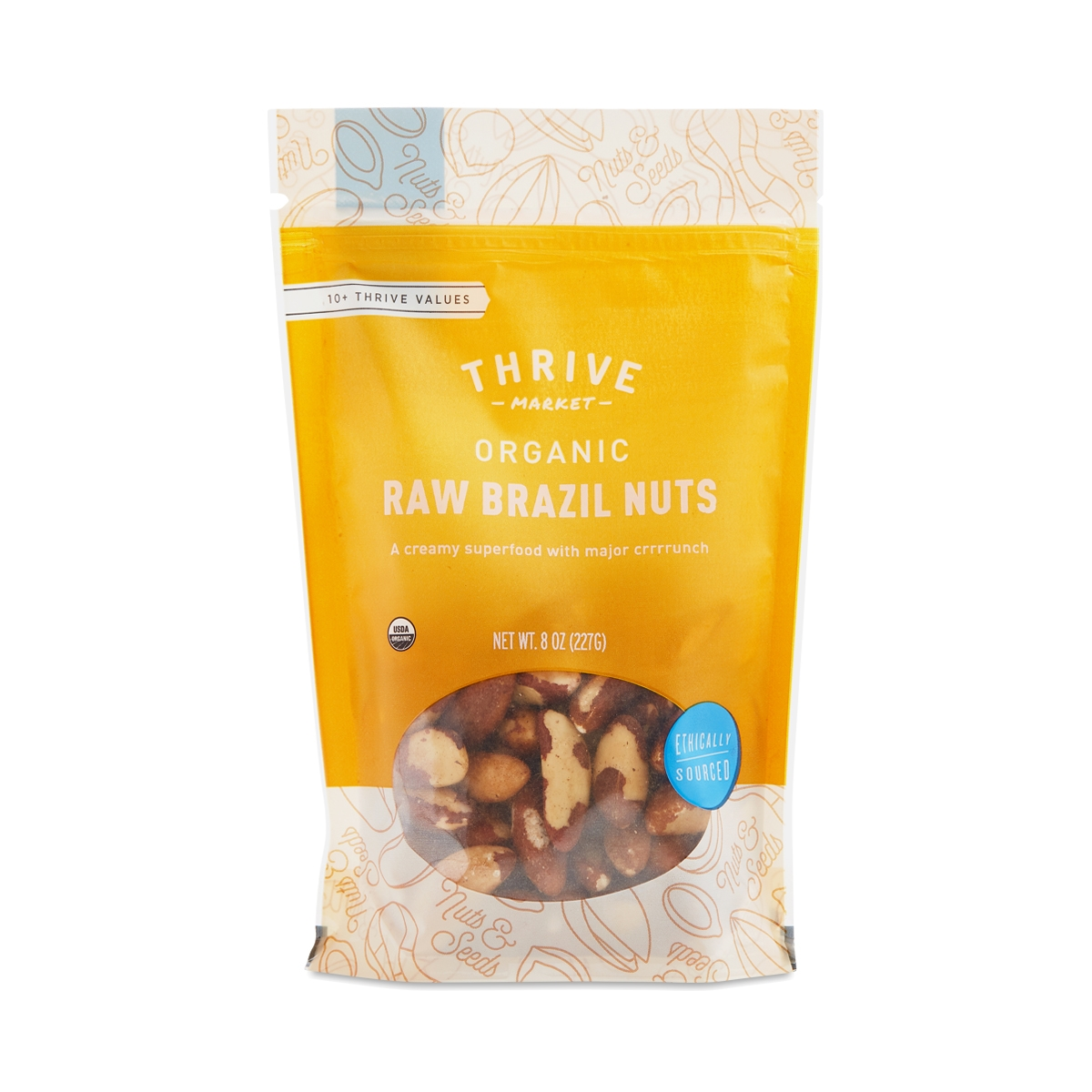 Thrive Market Organic Raw Brazil Nuts 8 oz bag