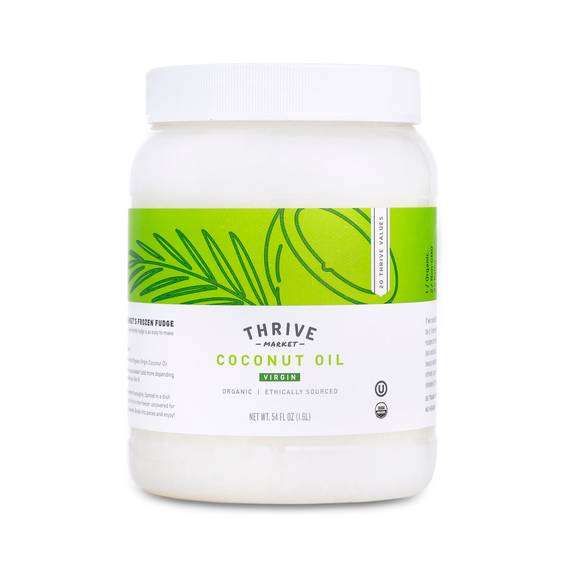 Thrive Market Organic, unrefined, cold-pressed virgin coconut oil.