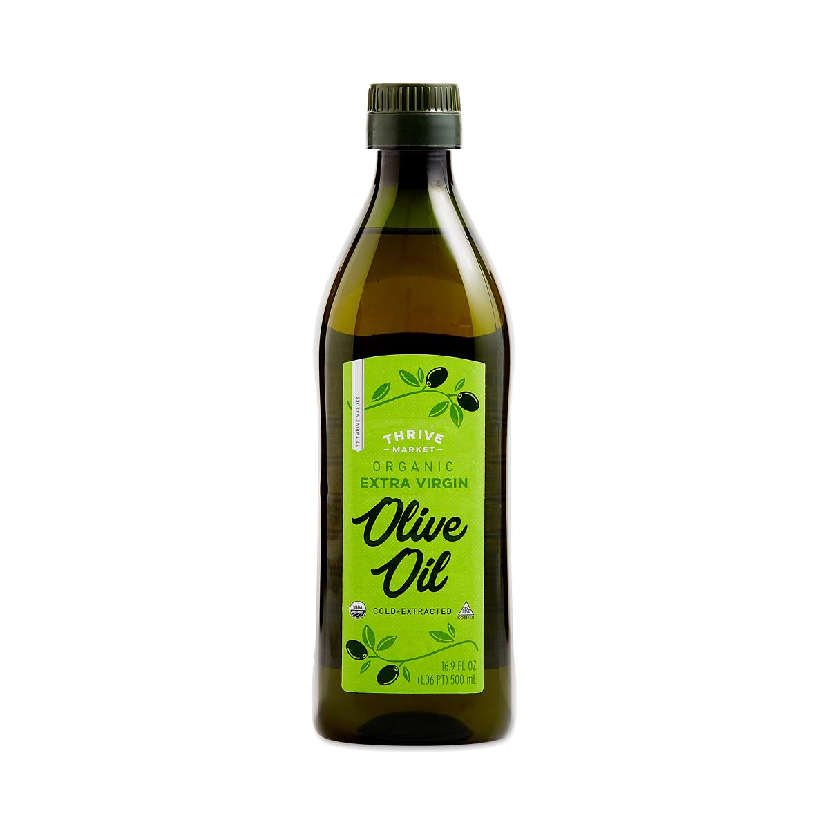 Thrive Market Organic Extra Virgin Olive Oil, Tunisian 16.9 oz plastic bottle