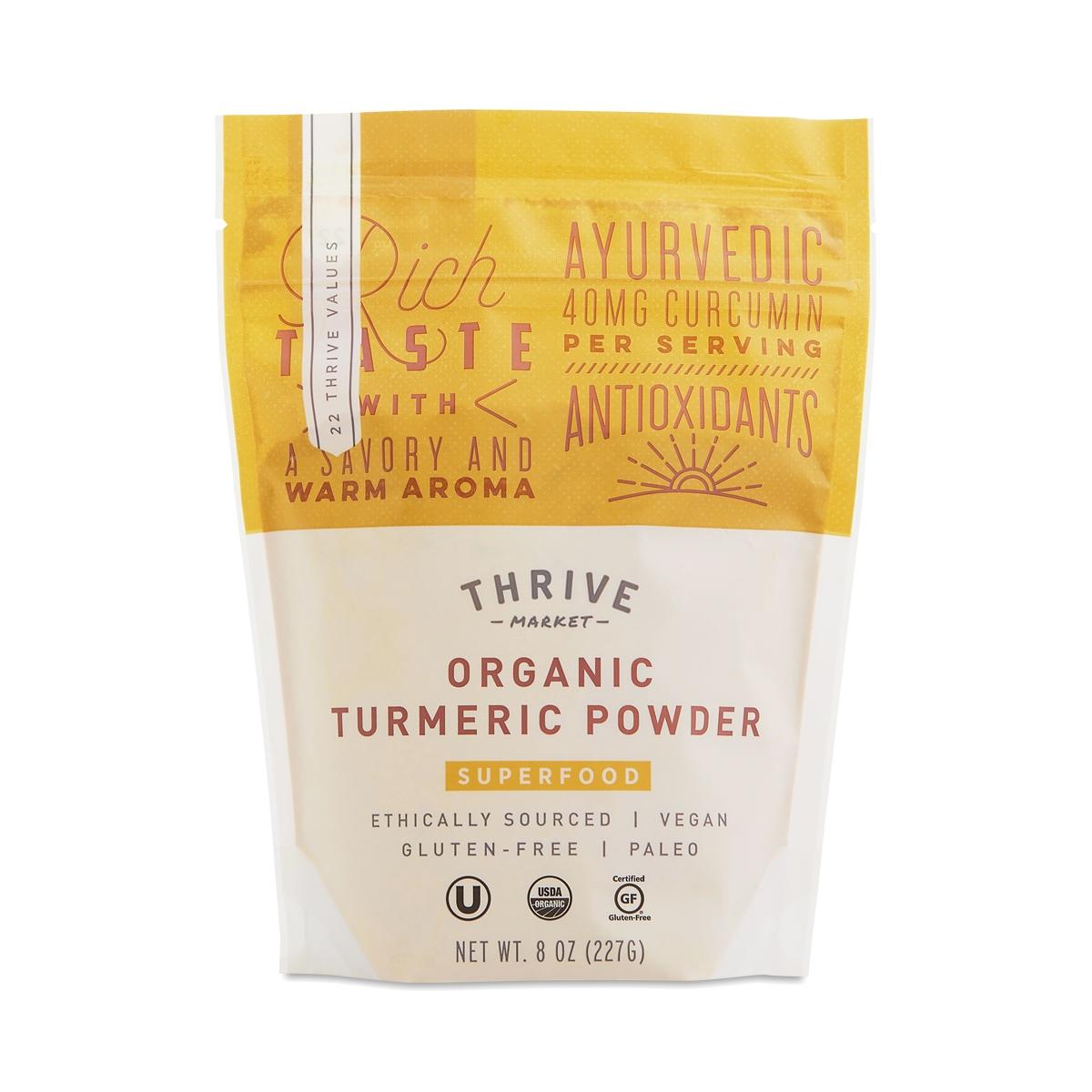 Thrive Market Organic Turmeric Powder 8 oz bag