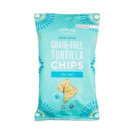 Non-GMO Grain-Free Tortilla Chips, Sea Salt