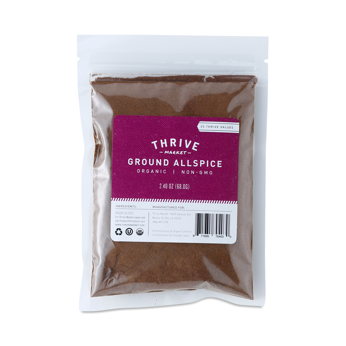 Thrive Market Organic Ground Allspice 2.4 oz pouch