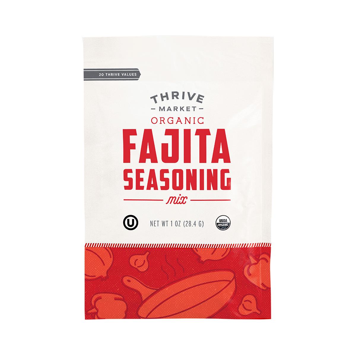 Thrive Market Organic Fajita Seasoning  1.0 oz pouch